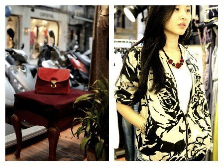SARTO X Chang Ching Wang big flower printed cotton jacket coat umbrella (can be used as a jacket or shirt to wear)