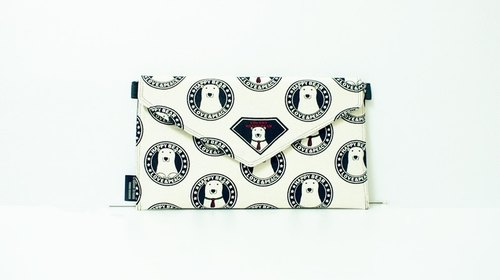 [Clutch / Shoulder Bag / envelope bag Dream Bag- save polar bear bear Knut - white]