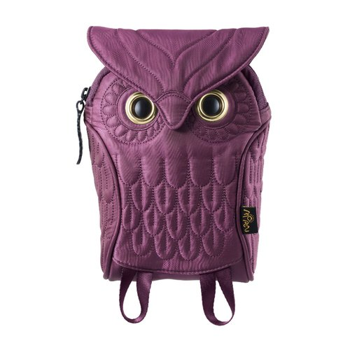 Morn Creations genuine owl purses (M) - Purple (OW-304-PP)