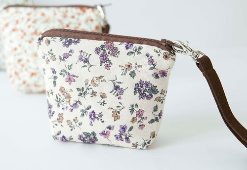 100% PURE | Butterfly. Floral bag / purple