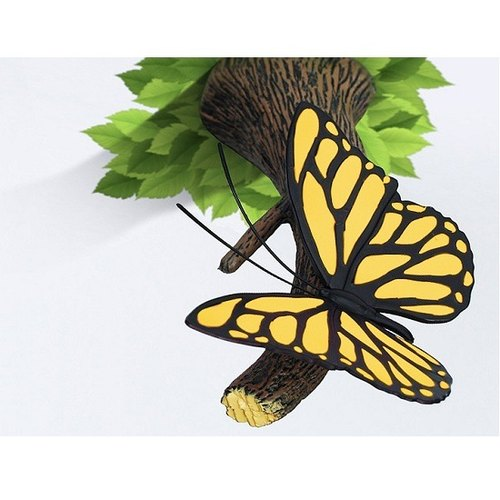 3D Light FX - Nature Series Yellow Butterfly