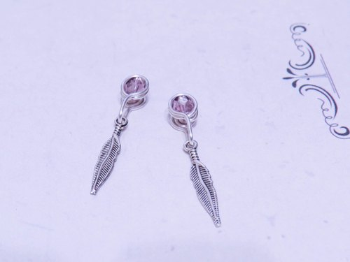Wing Wing Hand-made jewelry clip-on earrings made (ancient silver accessories 2)