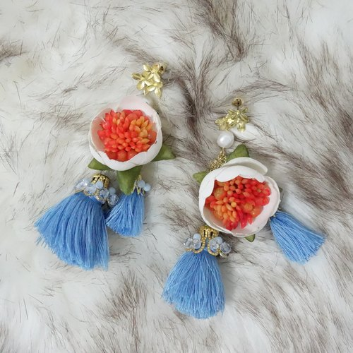Morning Lover | Four Seasons flower flowers fringed beaded earrings glorious summer