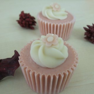 Pink beauty cup cake (small) - wedding small things / travel small soap / corporate gift