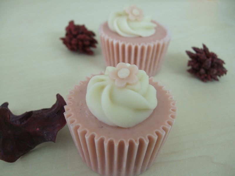 粉紅佳人杯子蛋糕(小)  -  婚禮小物 /旅行小皂 / 企業贈禮