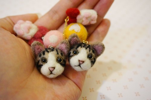 Wool felt headset dust plug accessories - cat models