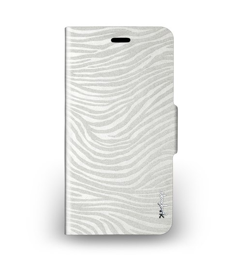 iPhone 6 Plus -The Zebra Series - zebra standing side lift Case - Pearl White