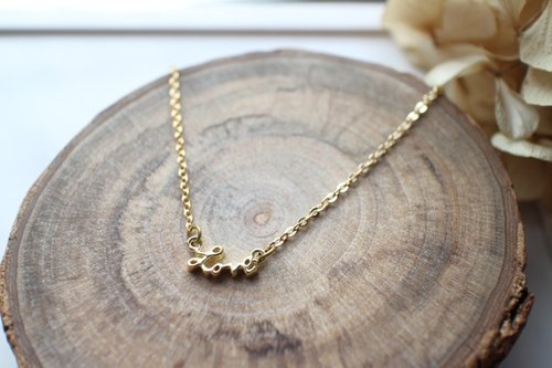 Fuchia ~ ~ love letter necklace graduation gift