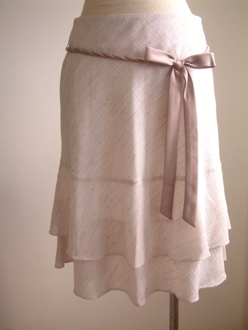 Ribbon bow cake skirt - Pink