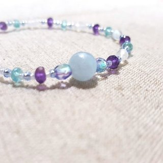 Dotdot | Blue Halo Moonlight x Light Blue Apatite x Amethyst x Aquamarine