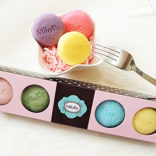 Macaron (small) 5 pieces handmade soap gift box - 5 boxes