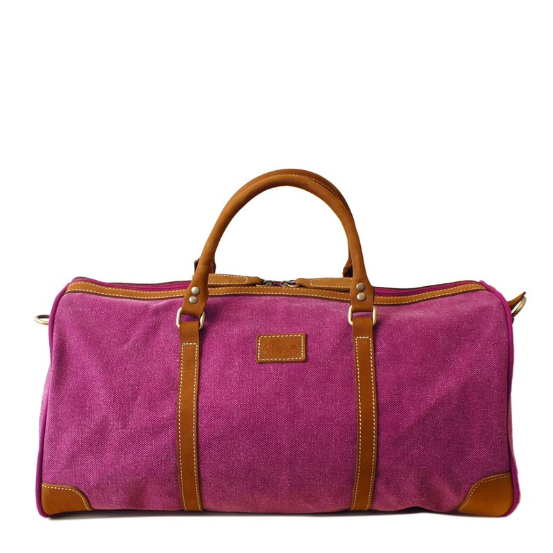 [Happa] simple fashion bag - suede short put - stonewashed canvas Classic (Raspberry Raspberry powder)