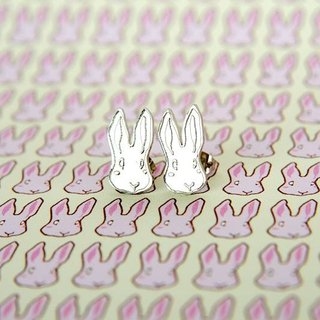 Rabbit stud earrings, Little rabbit earrings