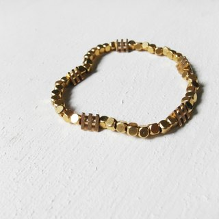 Encounter / brass beaded bracelet