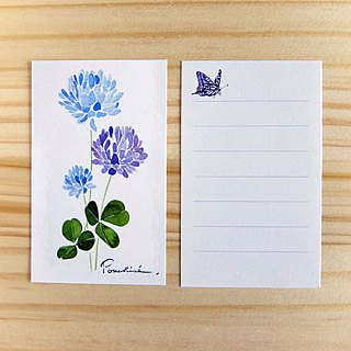 Mini-card white clover