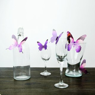 HomePlus 3D STREAK BUTTERFLY - Purple