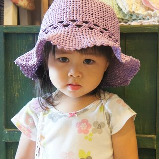 Braided sweet grass, pleasant little girl lace dome (also made her daughter / parent-child cap oh) ~