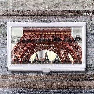 Paris Tower - Business Card Holder / Card Case / Office Worker Accessories [Special U Design]
