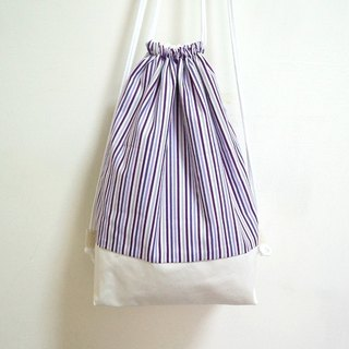 Striped purple on white