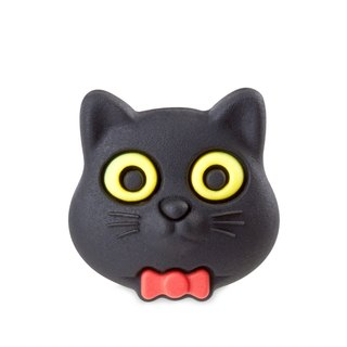 Bone Button interchangeable colorful funny buckle - Black Cat