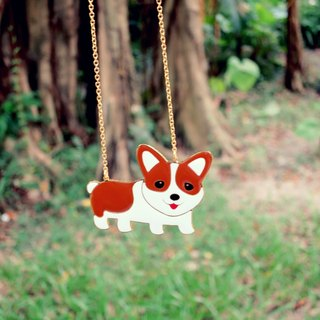 Short-leg Corky long necklace