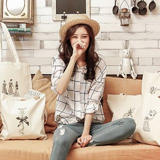 Simple Series_Double shoulder bag cotton linen bag (5)_Second Edition
