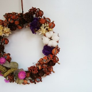 Month peach fruit dried wreaths