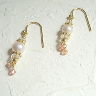 Vintage pearl earrings hook