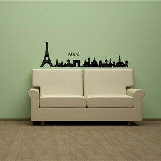 Seamless wall stickers creative smart Life ◆ Paris city (about 100 cm)