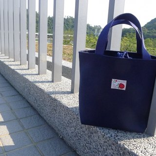 | • R • | Palette Bag / Lunch Bag / Universal Bag | Beam Type | Japan Ladybug Cloth Label | Blue
