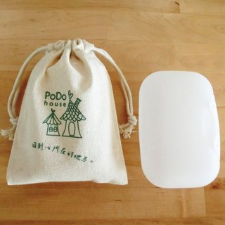 [Flowers] PoDo wave soap bag - green lake (without soap)