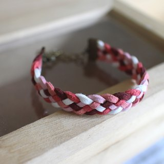 hand made bracelet-- korean synthetic leather【Sunny Berry】