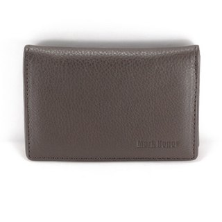 Classic minimalist brown wallet card holder