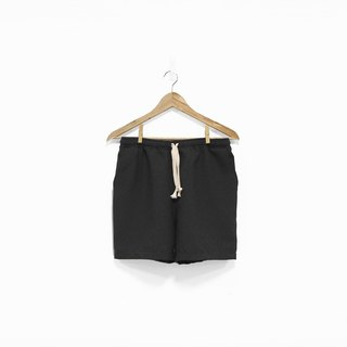 Black wide drawstring shorts