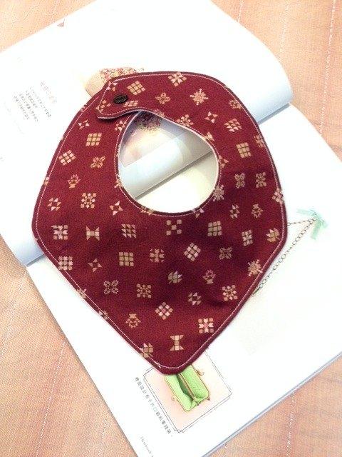 幾何圖形三角圍兜、擦口水巾