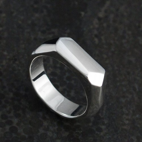 Custom Ring - Styling Ring X-Ring (S) 925 Silver Ring -64DESIGN