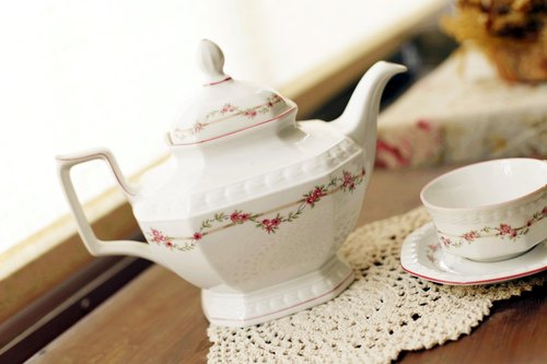 Good day [fetish] German royal flowers teapot