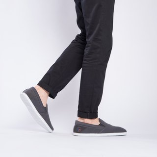 SLIP-ON Graphite PET RECYCLE and Eco-friendly shoes for MEN