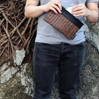 Weave Leather Portfolio Pouch (Small)
