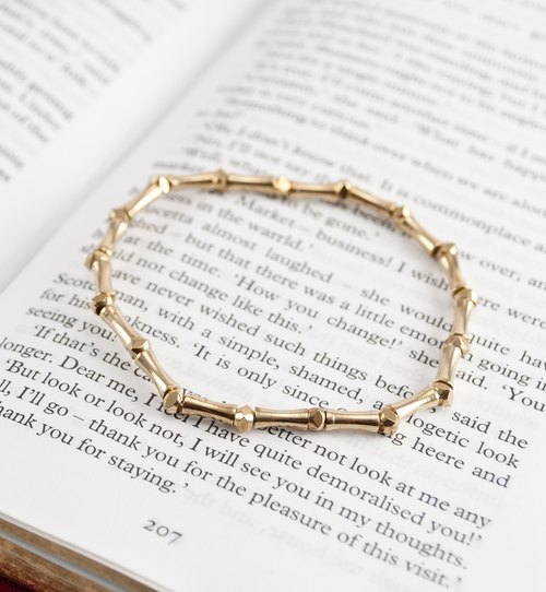 // La Don // [Flexible brass bracelet - simple - joint]