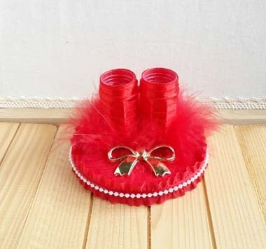 Romantic Red Feather paragraph wedding signature pen stand