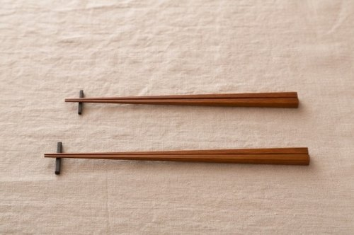 Pint! Kyoto bamboo chopsticks, bamboo coal blackened paint rub 22.5cm