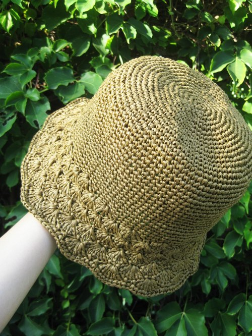 Mama の hand made hat - summer vintage lace hat Zhisheng caps brown / Mother's Day