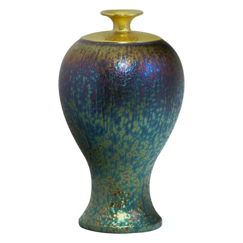Crystalline glaze gilt colorful glass vase _ Kuo this for
