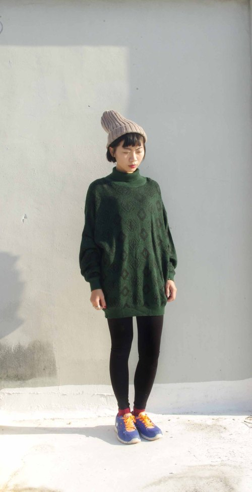 4.5studio- paddy rice to Geocaching old clothes - dark black totem long sweater