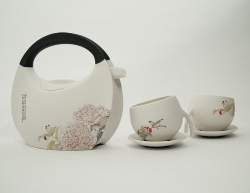 rondo PURSE TEA SET 提包茶壺組(牡丹、扶桑、荷鳥、荷蜻)