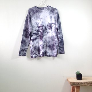 Hand dyed tie dye tie cotton long sleeve black marble pattern autumn and winter models