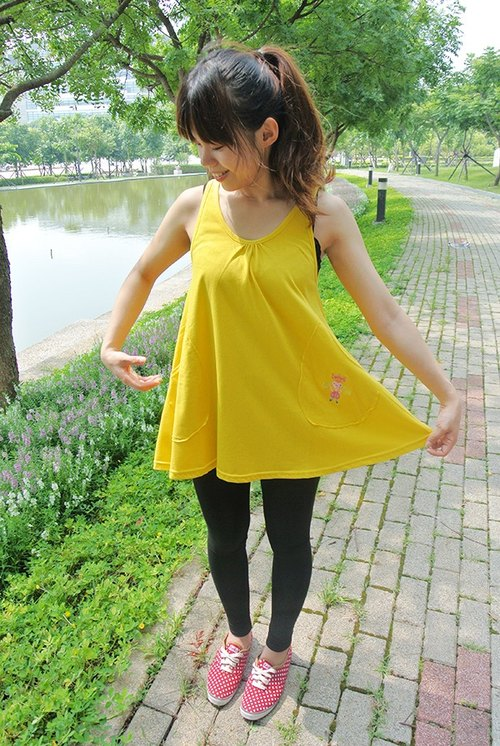 Swing vest top-Yellow