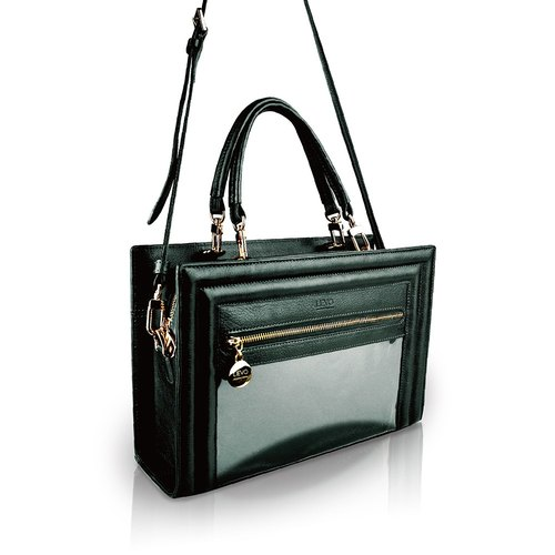 [LIEVO] SHOW - leather side bag dual-use portable deep dark green _