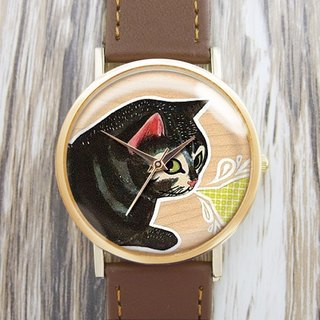 Personality Black Cat - Women's Watch / Men's Watch / Neutral Table / Accessories [Special U Design]